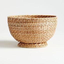 Artesia Natural Large Rattan Bowl + Reviews | Crate and Barrel | Crate & Barrel
