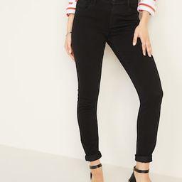 Mid-Rise 24/7 Sculpt Rockstar Super Skinny Black Jeans for Women | Old Navy (US)