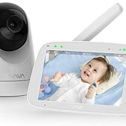 """Baby Monitor, VAVA 720P 5"""" HD Display Video Baby Monitor with Camera and Audio, IPS Screen, 900ft... 