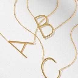 Block Letter Monogram Necklace | Anthropologie (US)