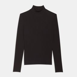 Turtleneck Sweater in Ribbed Viscose | Theory
