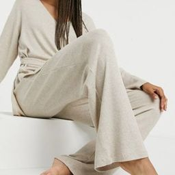 Lindex Filippa eco tencel rib lounge set in beige | ASOS (Global)