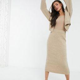 M Lounge coordinating knitted midi pencil skirt | ASOS (Global)