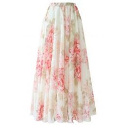 Brilliant Floral Watercolor Maxi Skirt | Chicwish
