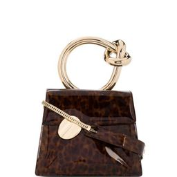 gold ring handle tortoise effect tote bag | Farfetch (US)