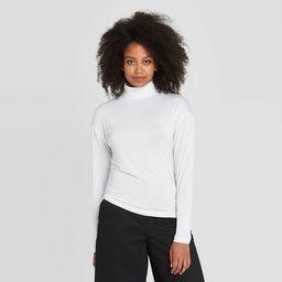 Women's Essential Long Sleeve Turtleneck Top - Prologue™ | Target