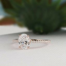 2Ct Classic Oval Engagement Ring - Solitaire ring - 9x7mm Oval Cut Ring - Promise ring - Wedding ... | Etsy (US)