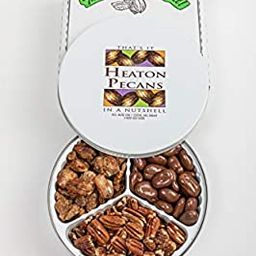 Heaton Pecans Three-Way Gift Tin - Oven Roasted/Salted Pecans, Praline Pecans, and Chocolate Cove...   Amazon (US)