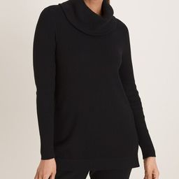 Cotton-Cashmere Blend Ribbed Cowl-Neck Top | Chico's