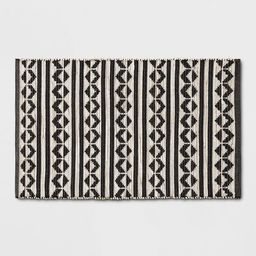 """2'6""""X4' Geometric Woven Accent Rugs Black - Project 62™ 