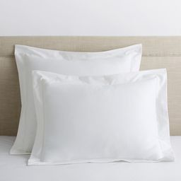 The Company Store Organic White Solid 300-Thread Count Cotton Sateen Euro Sham-N2M3-E-WHITE - The...   The Home Depot