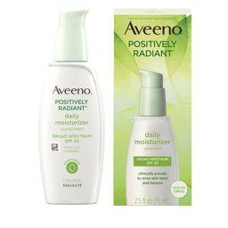 Aveeno Positively Radiant Daily Moisturizer With Soy - 2.5 fl oz | Target