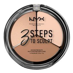 NYX Professional Makeup 3 Steps to Sculpt Face Sculpting Pressed Powder Palette - Fair - 0.53oz | Target