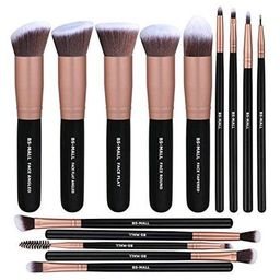 BS-MALL Makeup Brushes Premium Synthetic Foundation Powder Concealers Eye Shadows Makeup 14 Pcs Brus | Walmart (US)
