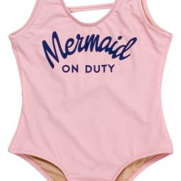Shade Critters Kids' Mermaid on Duty One-Piece Swimsuit (Toddler & Little Girl)   Nordstrom   Nordstrom