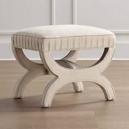 Theo Upholstered Stool   Frontgate   Frontgate