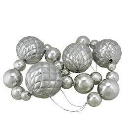 6' Oversized Shatterproof Shiny Silver Ball Garland With Glitter By Northlight | Michaels® | Michaels Stores