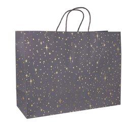 Foil Star Dotted Medium Gift Bag Gray - Spritz | Target
