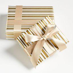 Winter Stripe Gift Wrap | Crate & Barrel