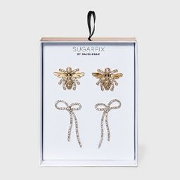 SUGARFIX by BaubleBar Bow and Bumble Bee Earring Set 2pc - Clear   Target