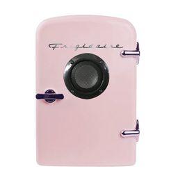 Frigidaire Portable Retro 6-can Mini Fridge EFMIS151, Built-in Bluetooth(R) Speaker, Pink | Walmart (US)