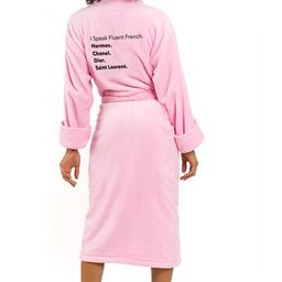LUXE PLUSH ROBE - Fluent French (Pink) | Los Angeles Trading Co