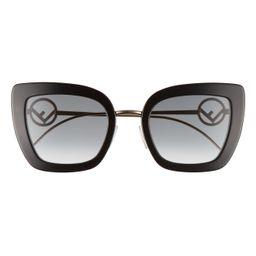 Women's Fendi 51mm Gradient Sunglasses - Black/ Dark Grey | Nordstrom