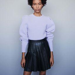 Pleated leather skirt | Maje (US)