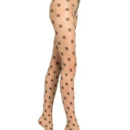 Fendi Women's Embroidered FF Logo Tights - Nude - Size II (Medium) | Saks Fifth Avenue