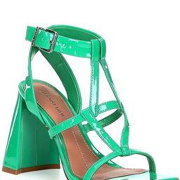 Bexxlie Patent Strappy Square Toe Dress Sandals | Dillards