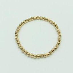 Gold Filled Beaded Bracelet 4mm 14k Gold Beaded Ball | Etsy | Etsy (US)