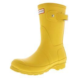 Hunter Women's Original Short Yellow Mid-Calf Rubber Rain Boot - 9M | Walmart (US)