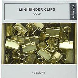 U Brands LLC Mini Binder Clips, Gold, Pack of 40 (763A0624) | Amazon (US)