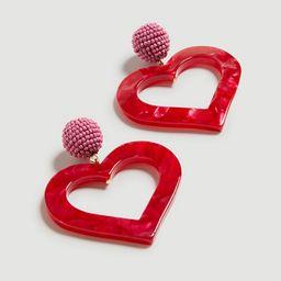 Tortoiseshell Print Heart Earrings | Ann Taylor (US)