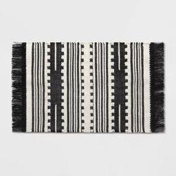 2'X3' Sylviidae Stripe Woven Accent Rug Black - Opalhouse™   Target