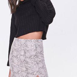 Snake Print Mini Skirt   Forever 21 (US)