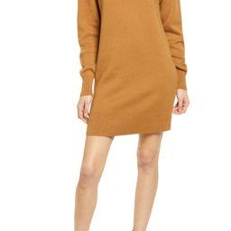 Women's Bp. Long Sleeve Hoodie Sweater Dress, Size Large - Brown   Nordstrom