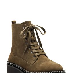 Women's Vince Camuto Mindinta Chain Trim Combat Boot, Size 6.5 M - Green   Nordstrom