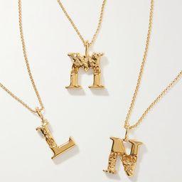 Chloé - Alphabet Gold-tone Necklace   Net-a-Porter (US)