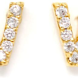Me Plus CZ Gold Plated Small Cute Stud Initial Alphabet Fashion Earrings Made in Korea   Amazon (US)