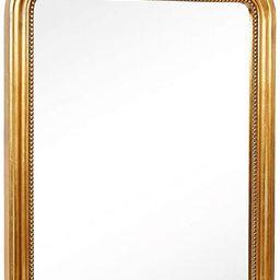 Hamilton Hills Top Gold Baroque Wall Mirror | Rich Old World Feel Framed Beveled Elegant Glass Mi... | Amazon (US)