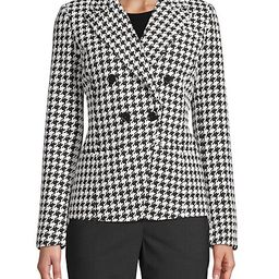 Double-Breasted Houndstooth Blazer | Saks Fifth Avenue OFF 5TH