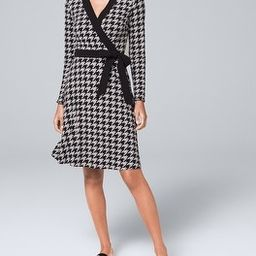 Reversible Houndstooth/Black Dress | White House Black Market