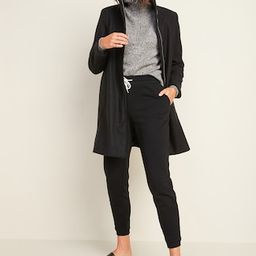 Relaxed Soft-Brushed Funnel-Neck Coat for Women | Old Navy (US)