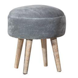 Mila Backless Vanity Ottoman Stool Gray - Hillsdale Furniture | Target