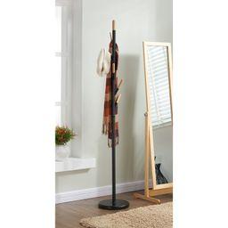 Metal with Solid Wood Hook Coat Rack   Wayfair North America