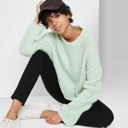 Women's Crewneck Waffle Knit Pullover Sweater - Wild Fable™ | Target