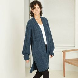 Women's Cable Knit Open-Front Cardigan - A New Day™ | Target