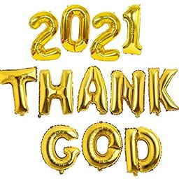 New Years Eve Balloons 2021 | 16 Inch Gold Number & Letter NYE Mylar Foil Party Decorations Suppl... | Amazon (US)