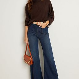 Pilcro Patch-Pocket Ultra High-Rise Flare Jeans   Anthropologie (US)